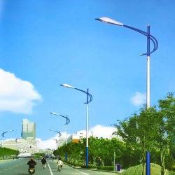 Fora a iluminação LED de energia solar galvanizado poste de iluminação de Rua