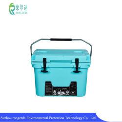 Aangepast logo Plastic Insulated Cooler Box Picnic Travel Fishing Outdoor Koelbox voor ijs/bier