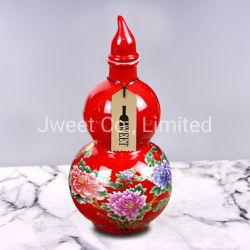 Форма Gourd красный цветок остекления ради керамические бутылки с Корк