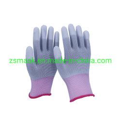 Jauge 13 fibre de carbone en nylon enduit PU Placer bout des doigts Gants ESD antistatique