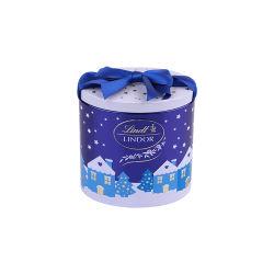 Venta caliente forma oval Lata de té Caja de regalo de metal con tapa deslizante y estaño repujado de estaño de galletas