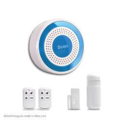 Alarma sonora de la luz de advertencia de la pequeña sirena de alarma Kit de alarma de 433MHz
