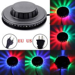 شاشة LED صغيرة 48 LED 8 واط RGB Sunflower Laser Lighting Disco مسرح ضوء قضيب [دج] صوت خلفية جدار ضوء عيد ميلاد المسيح حزب المصباح