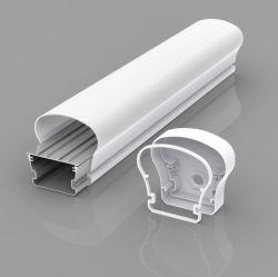 Estrutura plástica pendente com entrada de alumínio IP65 do Alojamento da Luz do Tubo de LED Tri-Proof Trip-Proof Perfil LED