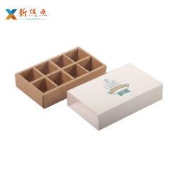 Kundenspezifisches Flachgehäuse-Papppapier-Schokoladen-faltbares Cup-Kuchen-Geschenk-verpackenkasten