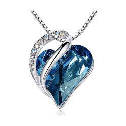 Bisutería 925 Joyería de Bodas de Plata Corazón Mayorista de zirconio Conjunto de joyas de la mujer