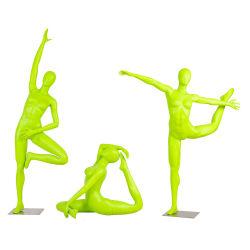 Goedkope abstracte kleding Display Full-Body Yoga Mannequins Vrouw