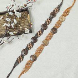 ريترو أزياء حزام سيدة مع الشمع خيط وألباس الزجاج، ريسيين بيدز BL-2007