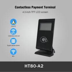 4.3インチTFT LCDスクリーンのLinuxの無線Qr 1d/2D NFCのカードの無接触の支払ターミナル(HT80-A2)