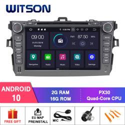 Toyota Corolla 2006-2011년 차량 오디오 GPS 다중 매체를 위한 Witson 인조 인간 10 차 DVD 라디오 Bluetooth 선수