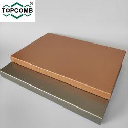 Painéis em alumínio revestido a PVDF Honeycomb painéis em Sandwich Honeycomb para paredes