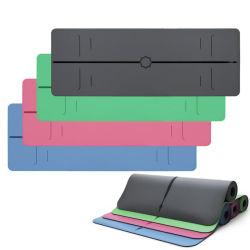Sughero con stampa personalizzata con logo, design impermeabile antiscivolo Camoscio TPE EVA PVC iuta PU NBR gomma naturale Eco Palestra yoga accogliente, tappetino per adulti