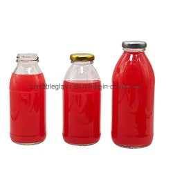 300ml 500ml 도매 음료 육즙이 많은 병 포장 유리 원형