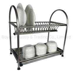Cocina de metal cromado cubertería tazón taza plato Rack Purgador de secado
