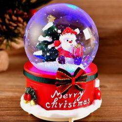 Vintage Décoration de Noël de l'eau en plastique de lumière LED Glitter Santa Boule à neige