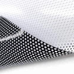 유리창 원웨이 비전 필름 재질 플라스틱 PVC를 통해 참조 디지털 인쇄/실크 스크린 인쇄 광택 문자반 매끄러운 광택