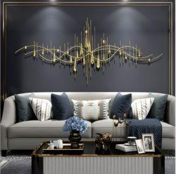 Design de metal e a Praça abstracta arte na parede para aplicações interiores e decoração