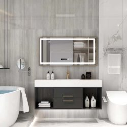 32 /24 inch Marmeren houten muur moderne opslag Badkamer Vanity