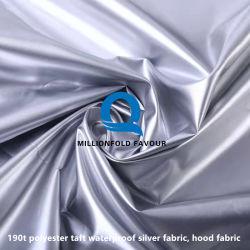 190t 폴리에스테르 태프트 방수 실버 패브릭, 우산 케이스 커버 직물 샤워 커튼 더스트 카 커버 천