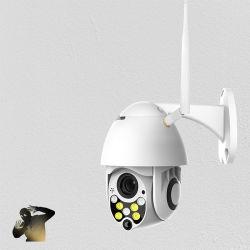 1080P IP-камера PTZ WiFi для использования вне помещений высокоскоростных купольных камер для видеосистем безопасности беспроводной связи WiFi Pan наклона 4X цифровой зум 2MP сети видеонаблюдения