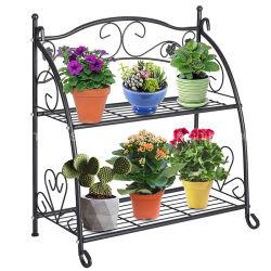 Pot de fleur de métal de jardin stand stand de plantes en fer forgé