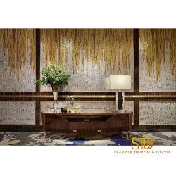 주문을 받아서 만들어진 손은 벽 훈장을%s 현대 황금 색깔 예술품 모자이크 예술 패턴을 만들었다