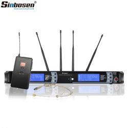 Sinbosen専門の無線McirophoneのシステムSkm9000 UHFの無線ヘッドセットのマイクロフォン