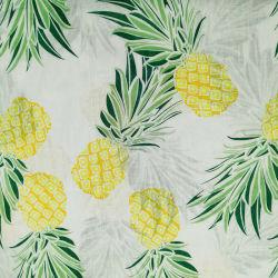 Tecidos de linho mesclado C32*L17 para as mulheres vestidos de linho 55/45 de tecido de algodão impresso Digital Estilo Simples