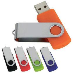 محرك أقراص USB Classic Flash ملون محرك أقراص USB دوار مع الشعار في لون الآلات