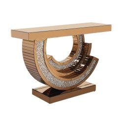 Console de jeux de miroirs de style français avec miroir de l'or accueil Meubles Décoration Hôtel Livingroom
