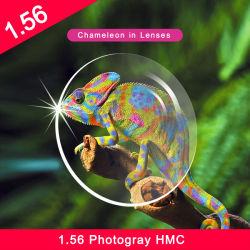 工場出荷時の仕上げは 1.56 1.61 1.67 フォトクロミックフォトグレーフォトロウン HMC シングル ビジョン光学レンズ