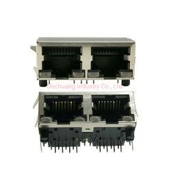 단일 1 포트 연결 가격 소켓 8p8c 이더넷 표면 마운트 PCB 방수 통합 모듈 차폐형 암 잭 RJ45 커넥터