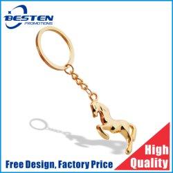 Figura su ordinazione Keychain del cavallo dell'argento dell'oro del metallo di marchio di promozione