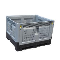 1200X1000 ventiladas colapsáveis paletes de plástico Caixa para agricultura