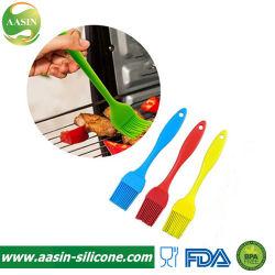 Nahrungsmittelgrad-Gebäck 100%, das Gitter-Grill-Pinsel-Silikon-Öl-Pinsel-Silikon-begießenden Sahnepinsel begießt