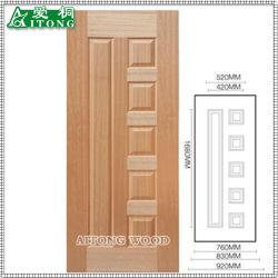 Heißes Verkaufs-China-Lieferanten-Melamin geformte Tür-Haut, hölzerne Furnier-Blatttür-Haut