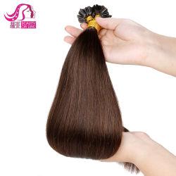 Fusion so Cap Qualität Itaky Keratin mit Flat / U-Spitze, flach-förmige Pre-Bonded Remy Haarverlängerung