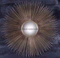La solarisation forme Fils en acier en Métal Décoration miroir mural