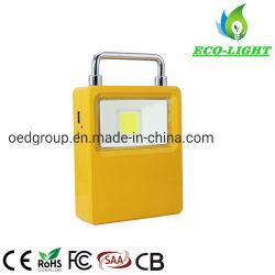 IP65 10W RECHARGEABLE USB portable Projecteur à LED solaire COB