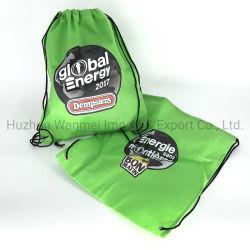 最もよい価格のカスタムロゴによって印刷されるNon-Wovenドローストリングのバックパック袋