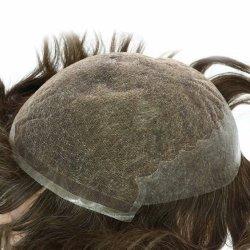 التوصيل الفوري للشعر الإنسان لأسهم توبي لاس الجبهة wig لمدة الرجال