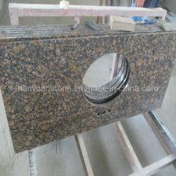 Parti superiori baltiche Polished prefabbricate di vanità della pietra del granito del Brown per la stanza da bagno