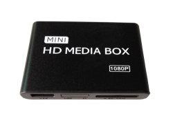 Mini Volledige HD 1080P HDD Media Player met AutoBegin en de Auto Aangepaste Ingebouwde programmatuur HDMI van de Lijn Functies