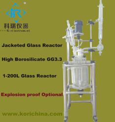 5L Laboratorio matraz de reacción de vidrio forrados con reactor de la pirólisis