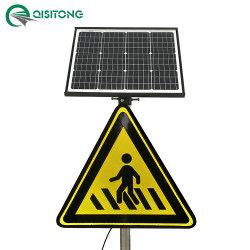 Angeschaltenes LED-aktives leuchtendes Straßen-Solarverkehrszeichen