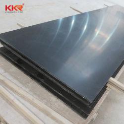 Piedra compuesto acrílico modificado negro Superficie sólida hoja Corian