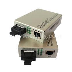 10/100/1000 Base-Tx сетей FTTH в 1000 Base-Fx Sc двойной оптоволоконный Media Converter