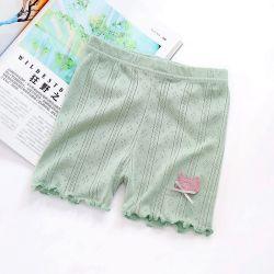 Детей тройной коротких замыканий девочек брюки хлопок одежды Underpants безопасности