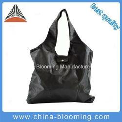Черный цвет полиэстер женщин складные многоразовые магазинов женская сумка