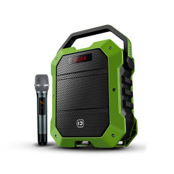 80W de gran potencia del sistema de altavoces inalámbricos portátiles Karaoke al aire libre el altavoz con micrófono inalámbrico doble